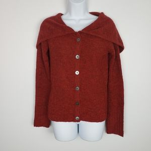 Anthro sleeping on snow red button up cardigan